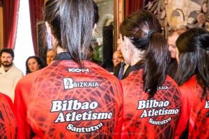 Presentación en el Excmo Ayuntamiento de Bilbao del equipo Bilbao Atletismo Santutxu.