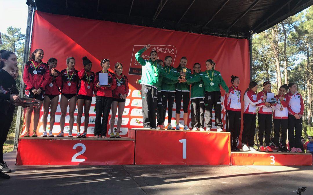 Las guerreras del BM Bilbao vuelven del Europeo de cross con otro subcampeonato
